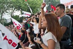 Protesteerders in Turkije in juni 2013 Stock Foto's