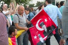Protesteerders in Turkije in juni 2013 Royalty-vrije Stock Afbeeldingen