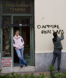 Protesteerders van Athene 09-01-09 Royalty-vrije Stock Fotografie