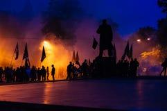 protesten stock fotografie