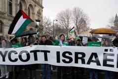 Protesten anti-Israëliër in Parijs Stock Foto's