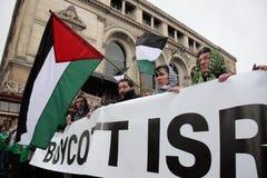 Protesten anti-Israëliër in Parijs Royalty-vrije Stock Fotografie