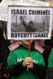 Protesten anti-Israëliër in Parijs Royalty-vrije Stock Foto
