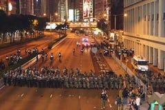 Protesten anti-WTO in Hongkong Stock Afbeeldingen