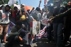 Protesten av det Indonesien valet Royaltyfria Foton
