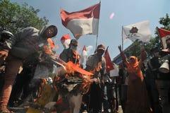 Protesten av det Indonesien valet Royaltyfri Bild