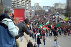 Protesten in Bulgarije 2013 Stock Foto's