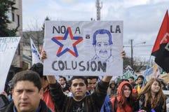 Protesten in Chili royalty-vrije stock foto's