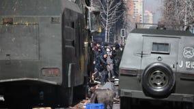 Protesten in Chili stock video