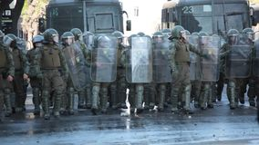Protesten in Chili stock footage