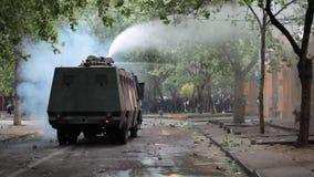 Protesten in Chili stock videobeelden