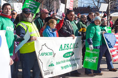 Protesten I van Madison Wisconsin Royalty-vrije Stock Afbeelding