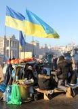 Protesten in Kiev. De Oekraïne Royalty-vrije Stock Afbeeldingen
