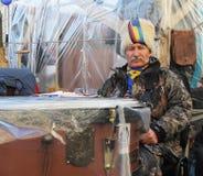 Protesten in Kiev. De Oekraïne Royalty-vrije Stock Afbeelding