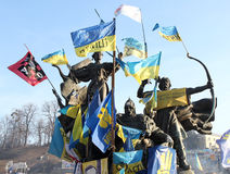 Protesten in Kiev. De Oekraïne Stock Foto