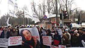 Protesten in Kiev in Februari 2018 royalty-vrije stock foto's