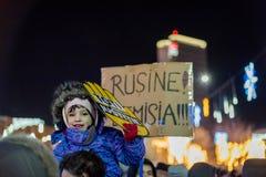 Protesten in Roemenië in December 2017 Stock Afbeeldingen
