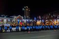 Protesten in Roemenië in December 2017 Royalty-vrije Stock Foto's