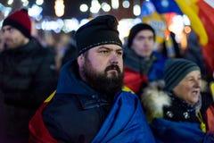 Protesten in Roemenië in December 2017 Royalty-vrije Stock Foto