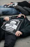 Protesten tegen de Paus in Parijs Royalty-vrije Stock Afbeelding