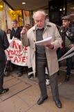 Protesten tegen het beleid van de Overheid in Londen Stock Afbeeldingen