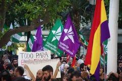 Protesten tegen monarchie 10 Royalty-vrije Stock Fotografie
