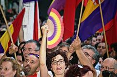 Protesten tegen monarchie 11 Royalty-vrije Stock Foto's
