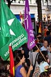 Protesten tegen monarchie 15 Royalty-vrije Stock Afbeelding