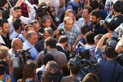 Protesten in Turkije Stock Foto's