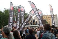 Protesten in Turkije in juni 2013 Stock Foto
