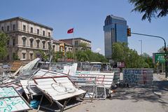 Protesten in Turkije in juni 2013 Stock Fotografie