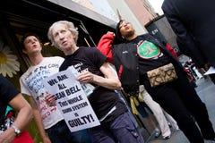 Protesten voor Sean Bell stock afbeeldingen