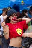 protester för 19j barcelona Arkivfoto