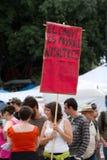 protester för 19j barcelona Royaltyfri Fotografi