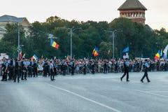 Protester i Bucharest Rumänien mot den korrumperade regeringen - Augusti/11/2018 Arkivbilder