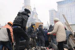 2014 protester i Kiev royaltyfri bild