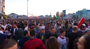Protester i Turkiet Royaltyfria Bilder
