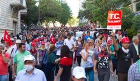 Protester i Turkiet Arkivfoto