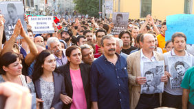 Protester i Turkiet Royaltyfria Foton