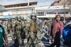 Protester i Valparaiso Arkivbild