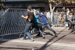 Protester i Valparaiso Royaltyfria Foton