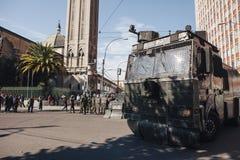 Protester i Valparaiso Royaltyfri Fotografi