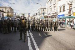 Protester i Valparaiso Royaltyfri Bild