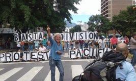 Protester i Venezuela Arkivbilder