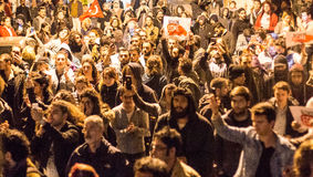 Protester på gatorna av Istanbul Royaltyfri Fotografi