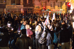 Protester på gatorna av Istanbul fotografering för bildbyråer