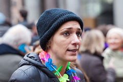 Protester rainbow Royalty Free Stock Photo