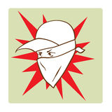 Protester's face symbol Royalty Free Stock Images