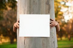 Protester with Sign Royalty Free Stock Photo