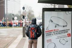 Protestera för armenier- och Turkiet diaspora Fotografering för Bildbyråer